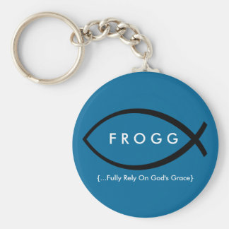 FROGG (Fully Rely On God's Grace) Keychain