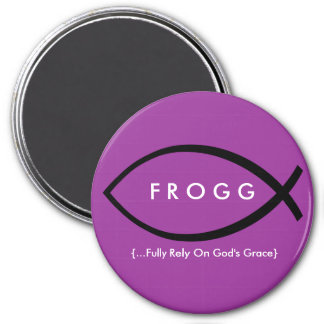 FROGG (Fully Rely On God's Grace) Magnet (Purple)