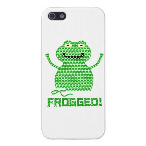 ¡Frogged! Rana del ganchillo del vector iPhone 5 Carcasas