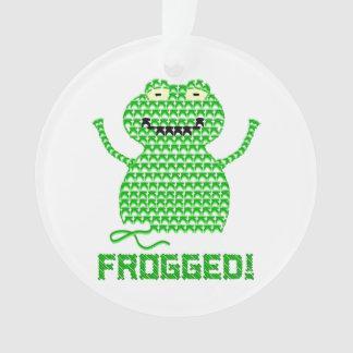 Frogged! Vector Crochet Frog Ornament