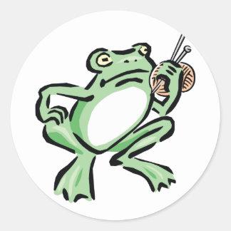 Frogger Pegatina Redonda