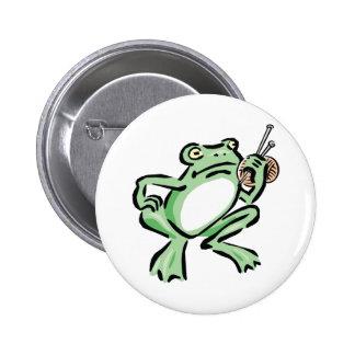 Frogger Pin Redondo 5 Cm