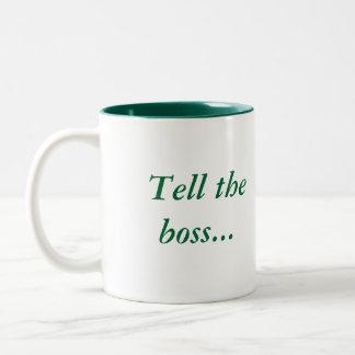 frogger,  Tell the boss..., I croaked. Two-Tone Coffee Mug