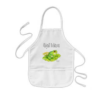 """Froggert"" Child's Classroom Arts/Crafts Kids' Apron"