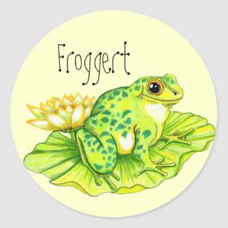 """""""Froggert"""" Round Sticker"""