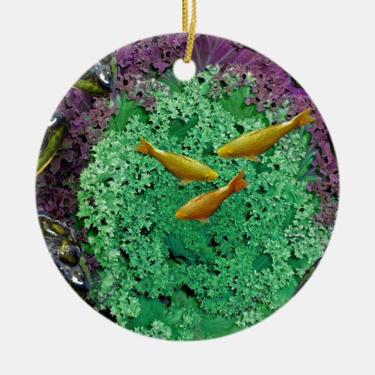 Froggery 2 with Koi Magical Surreal Kid's Ceramic Ornament