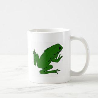 froggg taza básica blanca