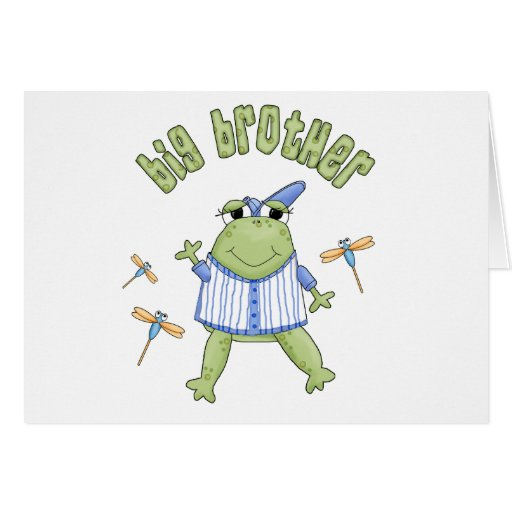 Froggie Big Brother Stationery Note Card