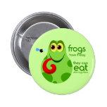 Froggie Button Is Bright Green Fun