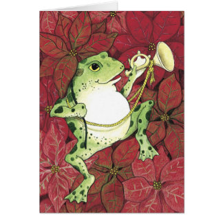 Froggie Holiday Greeting Card