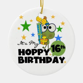 Froggie Hoppy 16th Birthday Ornament
