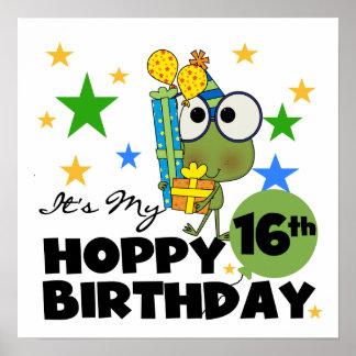 Froggie Hoppy 16th Birthday Posters