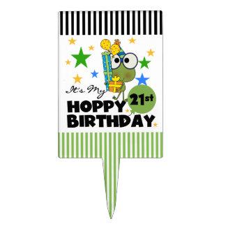 Froggie Hoppy 21st Birthday Cake Topper