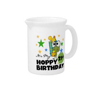 Froggie Hoppy 21st Birthday Drink Pitcher
