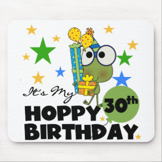 Froggie Hoppy 30th Birthday Mouse Pads