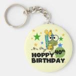 Froggie Hoppy 40th Birthday Key Chains