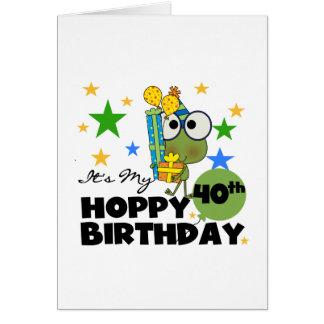 Froggie Hoppy 40th Birthday Stationery Note Card