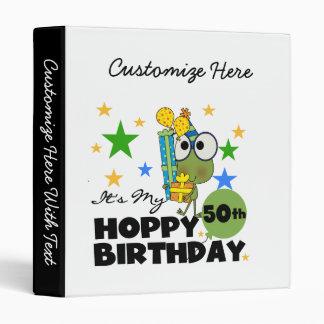 Froggie Hoppy 50th Birthday 3 Ring Binders