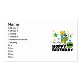 Froggie Hoppy 50th Birthday Business Cards