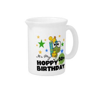 Froggie Hoppy 50th Birthday Drink Pitcher