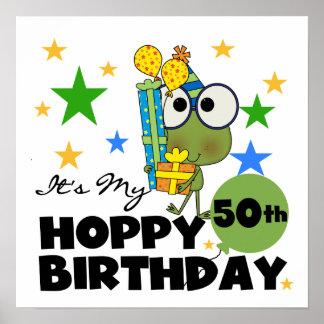 Froggie Hoppy 50th Birthday Posters