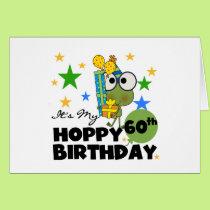 Froggie Hoppy 60th Birthday Card