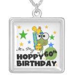 Froggie Hoppy 60th Birthday Custom Necklace