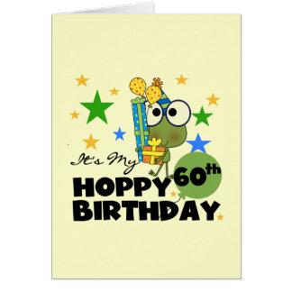 Froggie Hoppy 60th Birthday Stationery Note Card