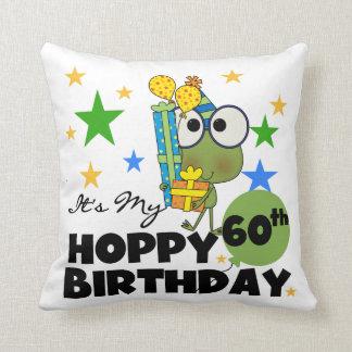 Froggie Hoppy 60th Birthday Throw Pillow