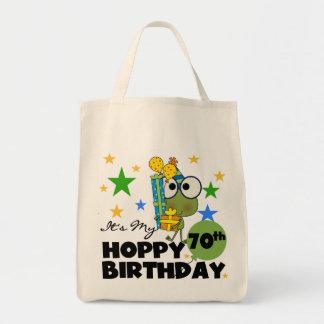 Froggie Hoppy 70th Birthday Tote Bag