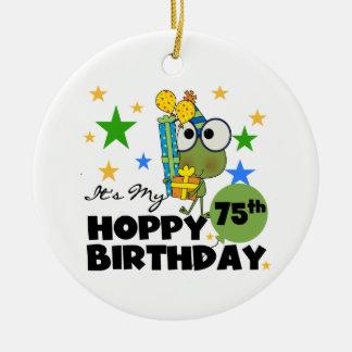 Froggie Hoppy 75th Birthday Christmas Tree Ornaments