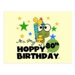 Froggie Hoppy 80th Birthday Post Card