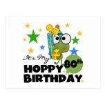 Froggie Hoppy 80th Birthday Postcards