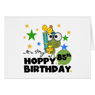 Froggie Hoppy 85th Birthday Stationery Note Card