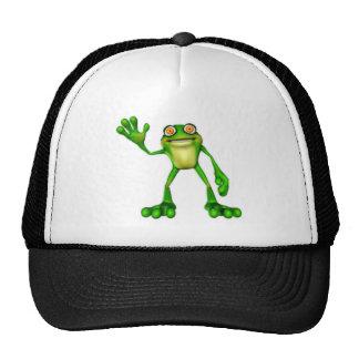 Froggie la rana que agita del dibujo animado lindo gorros