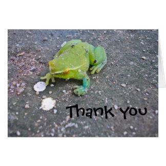 Froggie le agradece observar tarjeta pequeña