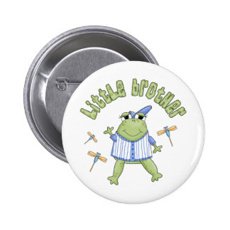 Froggie Little Brother Button
