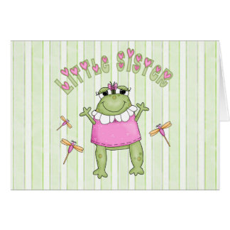 Froggie Little Sister Greeting Card