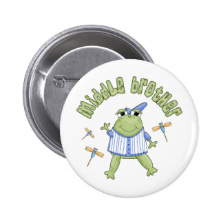 Froggie Middle Brother Pinback Buttons