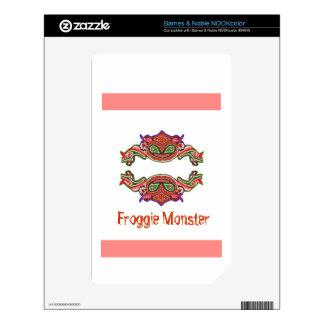 Froggie Monster - Frog Cartoon Skins For NOOK Color