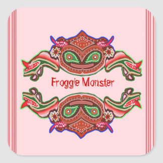 Froggie Monster - Frog Cartoon Sticker