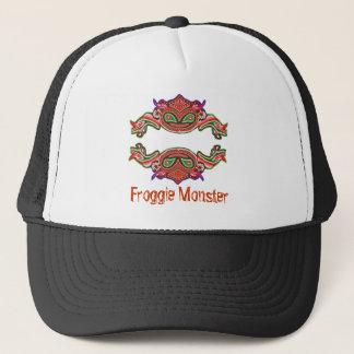 Froggie Monster - Frog Cartoon Trucker Hat