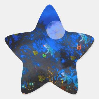 Froggie Night Star Sticker