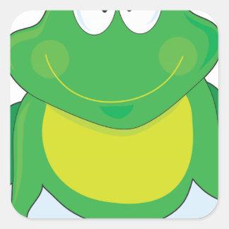 Froggie Pegatina Cuadrada