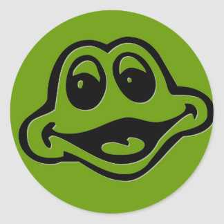 Froggie Pegatina Redonda
