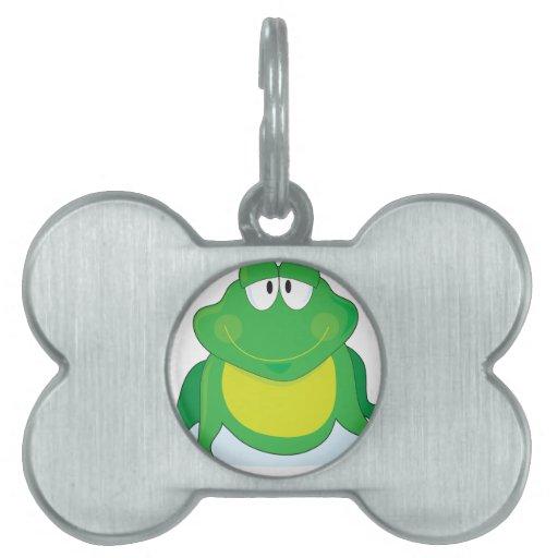 Froggie Placa De Nombre De Mascota