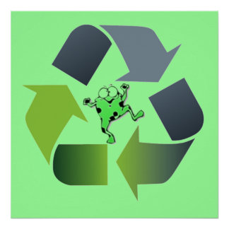 Froggie recycle poster