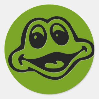 Froggie Round Stickers