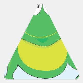 Froggie Triangle Sticker