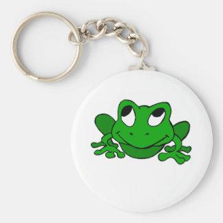 Froggie verde lindo llaveros personalizados